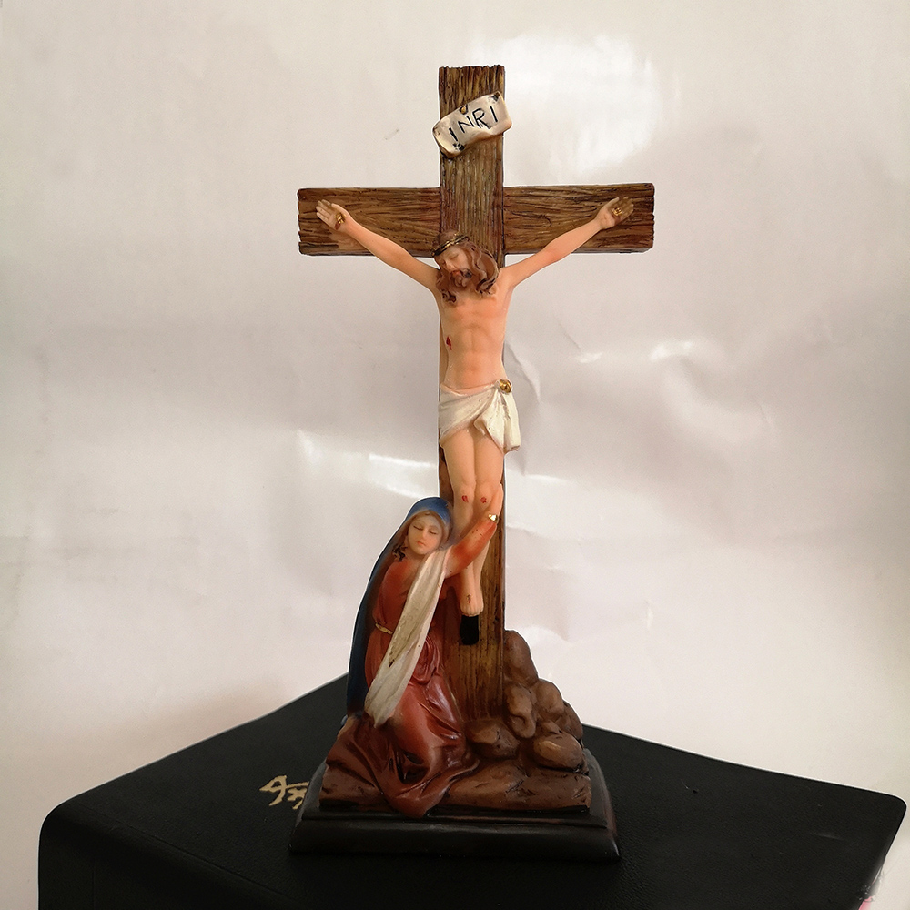 Catholic Sacred Art Cross Jesus Cartoon Vintage Pendulum Table Decoration