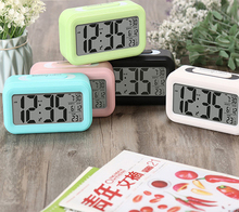 Multifunction LED Digital Alarm Clocks Backlight Display Desk Table Alarm Clock with Temperature Calendar Snooze Function Clocks digital desk led calendar alarm clock with temperature display blue light ac 4 aa powered