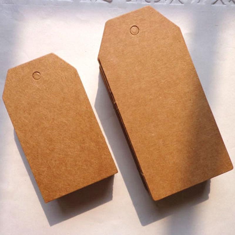 500 pièces Kraft étiquette cadeau 4x7cm bricolage blanc noir Kraft Standard étiquette cadeau papier étiquette volante cartes chanvre chaîne inclus étiquettes de vêtement
