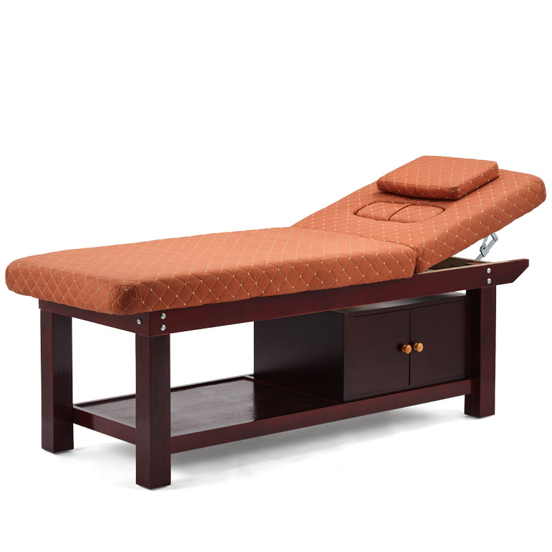 Solid Wood Beauty Bed Wooden Bed Physiotherapy Tattoo Eyelashes Massage Body With Hole Home Durable And Loadable 4 Men