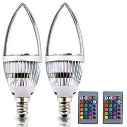 Красочные E14 E12 светодиодный светильник лампы RGB настроение светодиодный светильник ing C35 B10 Свеча светильник s маленький цоколь Эдисона