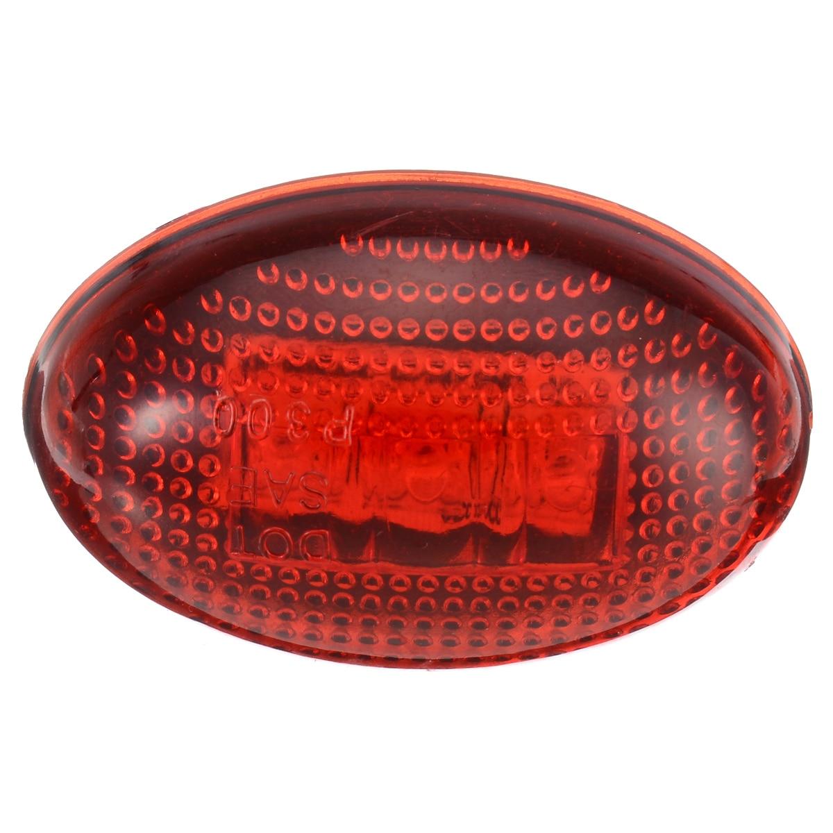 4pcs/set 3LED 12V Fender Side Marker Light Amber+Red Car Front Rear Side Marker Lamps For Ford F350  1999-2010