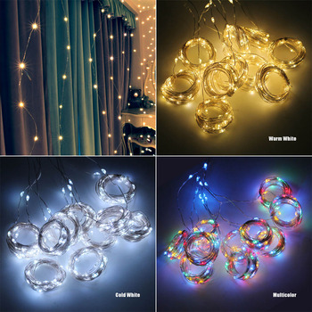 ANBLUB 3M USB LED Curtain String Lights Flash Fairy Garland Remote Control For New Year Christmas Outdoor Wedding Home decor 6