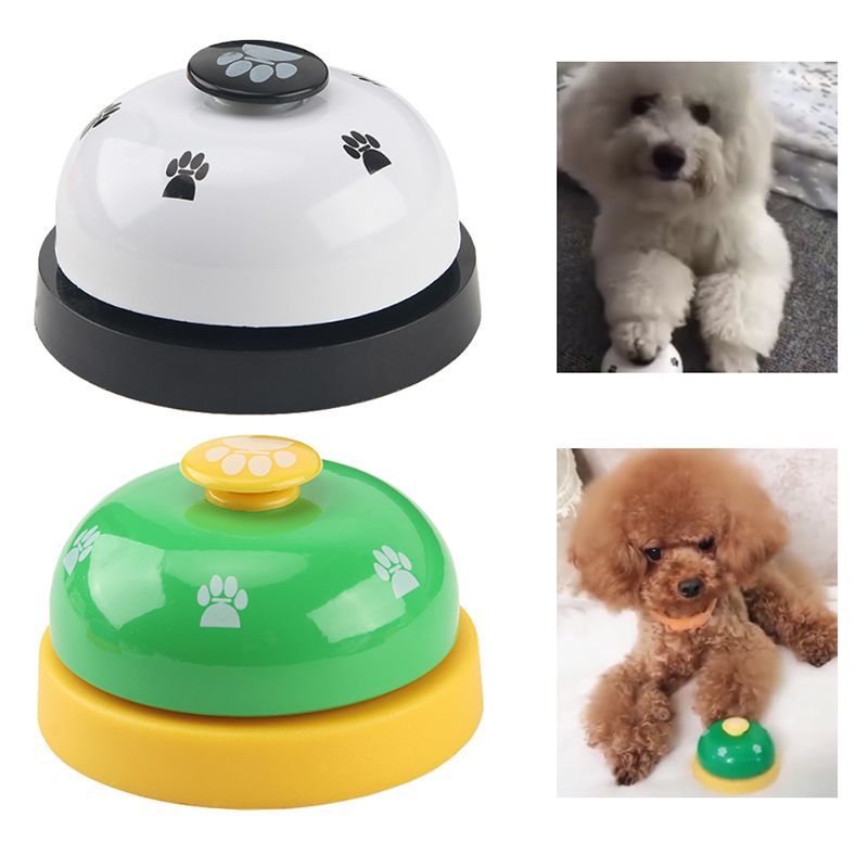 1pc Dog Training Bell Paw Print Pet Dinner Bell Dog Training Clicker Puppy Cat Dinning Call Ring Pet Training Playing Toys-4