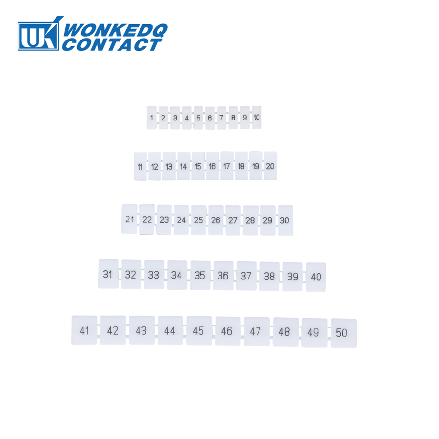 ZB5 Zack Marker Strips With Standard Numbering With Blank for UK and ST and PT DIN Rail Terminal Blocks  10Pcs|Terminal Blocks| |  - title=