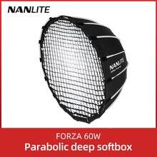 Nanlite portátil 60cm rapidamente rápida instalação profunda softboxfor parabólico forza 60 softbox (EC-FZ60)