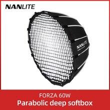 Nanlite Draagbare 60Cm Snel Snelle Installatie Diepe Parabolische Softboxfor Forza 60 Softbox (EC FZ60)