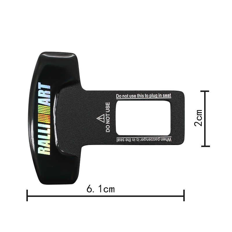 1 pçs liga de zinco arte raiil clipe cinto de segurança do carro plug para mitsubishi lancer asx outlander pajero l200 galant acessórios