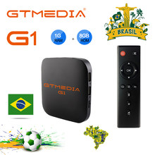 GTMEDIA G1 Android 7,1 caja de Smart TV Brasil Quad core HD2.0 4K * 2k Amlogic S905W- caja superior pk X96 reproductor multimedia M3U IPTV Brasil(China)