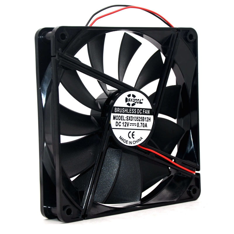 Brand New 13525 135mm DC 12V 0.70A 135*135*25mm Case Server Inverter Cooling Fan Replace ADN512UB-A90 ADN512UB-A91 AFB1312M