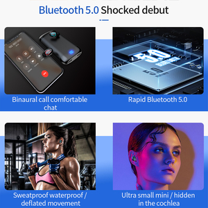 Image 4 - Q66 Wireless V5.0 Bluetooth Earphone HD Stereo Headphone Sports Waterproof Headset With Dual Mic and 6000mAh Battery Charge Case