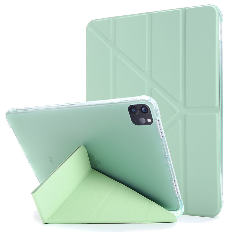 green Yellow Funda For iPad Pro 11 2020 Case with Pencil Holder PU Leather Flip Stand Smart Protective