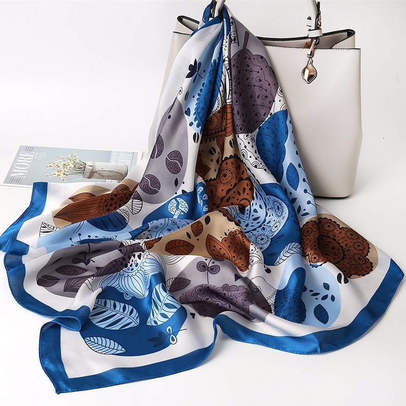 Fashion Multifunctional Scarves Women's Printing Curling Wild Professional Square Decorative Scarf Female2020 Spring Autumn