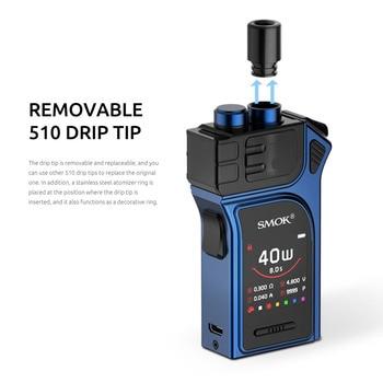 SMOK – Kit de dosettes Mag 1300mAh et cartouche 3ML, maille RPM, 0,4 ohm DC 0,8 ohm, bobine MTL, vaporisateur 40W, VS Aegis Boost Pod, système