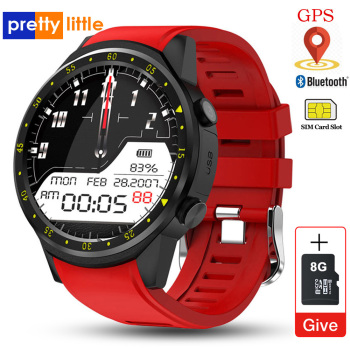 GPS Smart Watch With SIM Card Camera F1 Heart rate