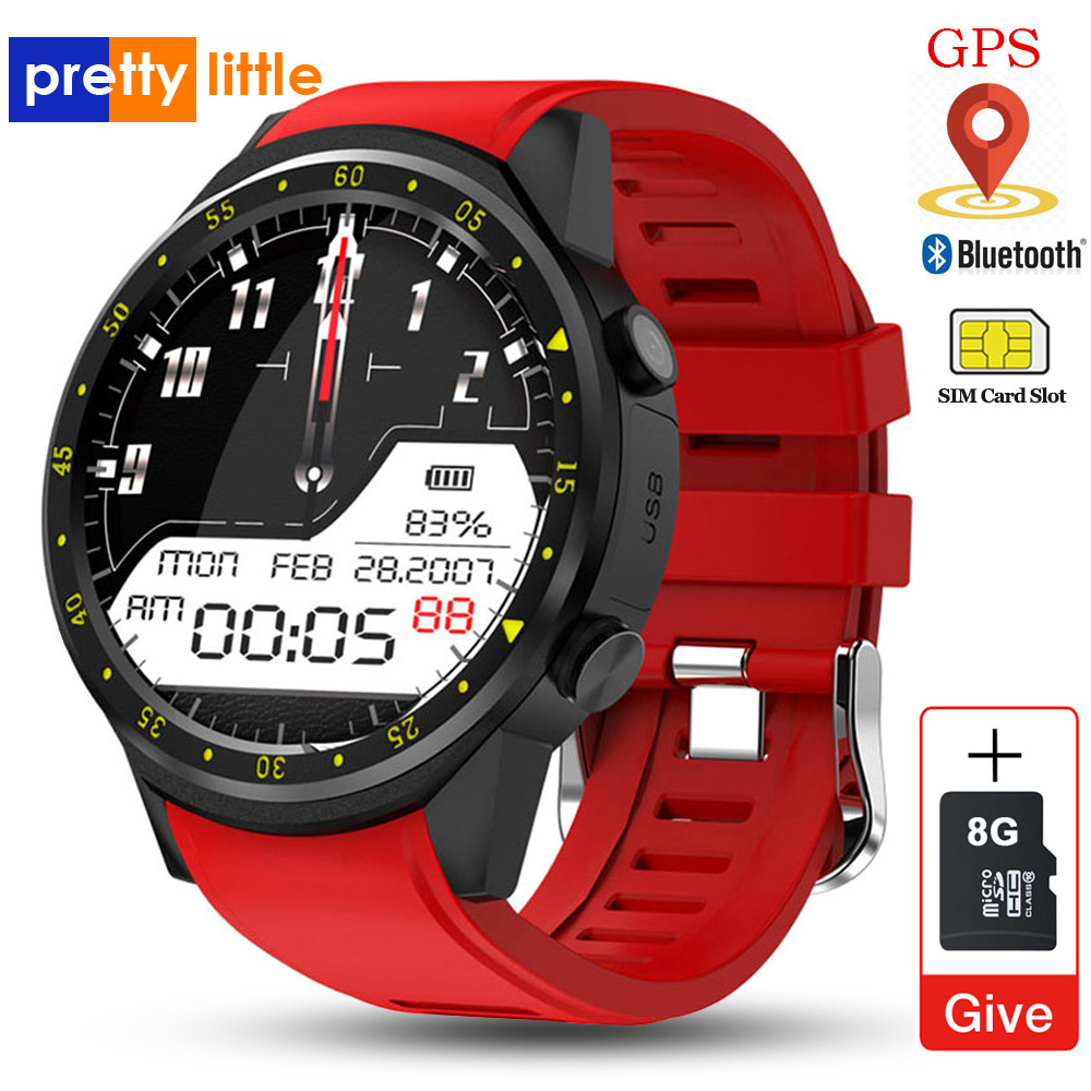GPS montre intelligente hommes avec carte SIM caméra F1 smartwatch détection de fréquence cardiaque Sport téléphone connecté montre android iOS horloge