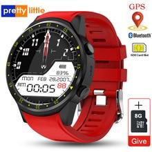 Montre intelligente F1 pour homme avec GPS et carte SIM intégrée, dotée dune caméra, dun détecteur de fréquence cardiaque, connexion à un smartphone android ou iOS, accessoire de sport