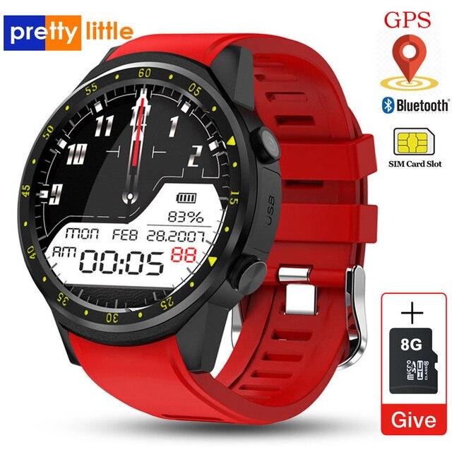 Reloj inteligente deportivo F1 con GPS para hombre, reloj inteligente deportivo con tarjeta SIM, control del ritmo cardíaco y conexión android iOS teléfono móvil