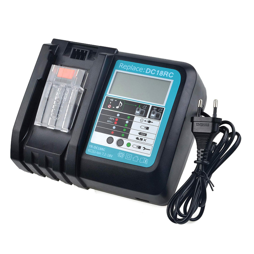 Electric Power Tool  Li-Ion Battery Charger 3A Charging Current For Makita 14 4V 18V Bl1830 Bl1430 Dc18Rc Dc18Ra DC18Rct Charge
