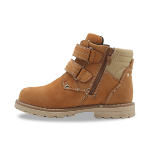 Image 3 - Apakowa filles classique en cuir Martin bottes enfants crochet et boucle mode bottines avec fermeture éclair anti dérapant haut chaussures de marche