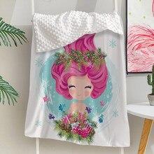 Silstar Texd Meerjungfrau Mädchen Baby Decke 110-150Cm Geeignet Für Vier Jahreszeiten Komfortable Pea Decke Swaddle Decke Baby
