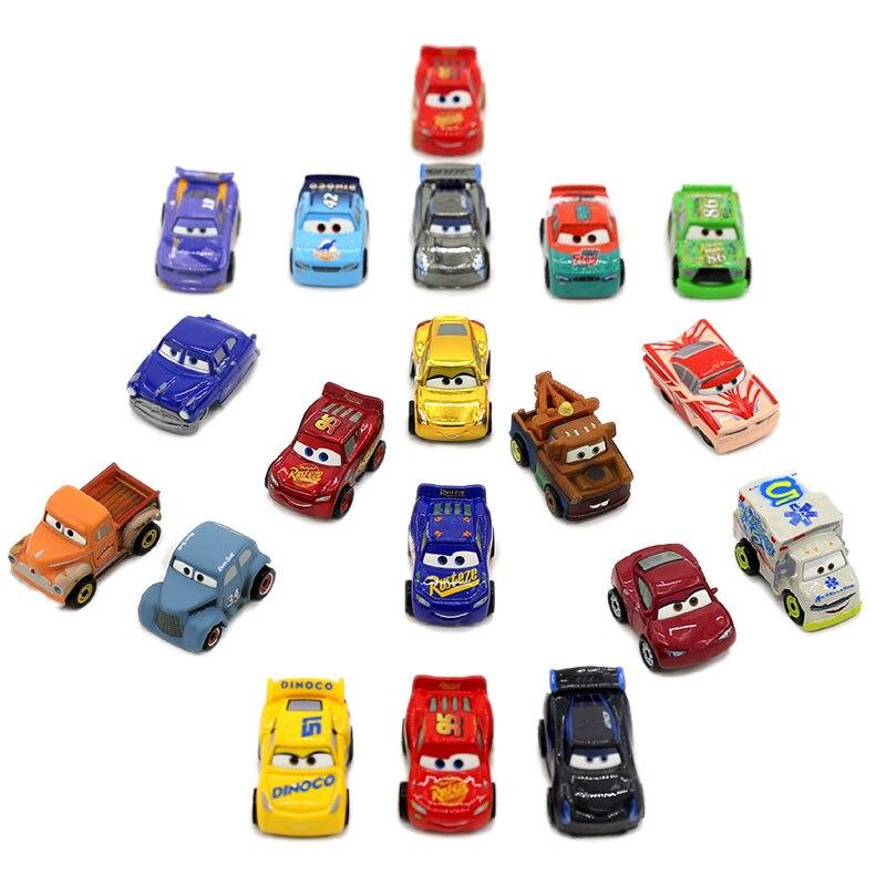 Disney pixar carros série mini carro 10 carregados, relâmpago gkg08 mcqueen tempestade preta jackson, carro de polícia, cruz, brinquedo de menino presentes dos carros