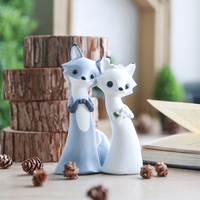 Forest Animal Statue Handmade Figurines Crafts Eco friendly Resin Fox Deer Home Decoration Accessories Children Gifts Ornament