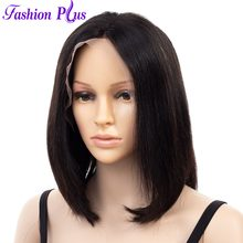 Bob Wig Full and Thick For Black Women Human Lace Front Hair Wigs Natural Color Pre Plucked With Baby Hair Short Remy Wigs(China)