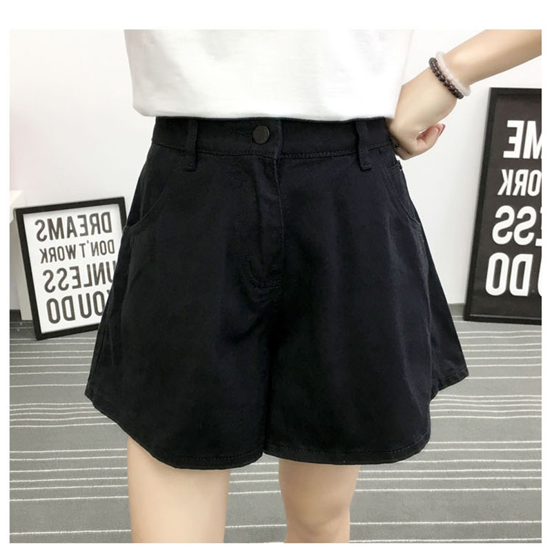 Women's Denim Shorts High Waist Ladies Casual Loose  Black Blue Summer Fashion Female Plus Size Wide Leg Jeans