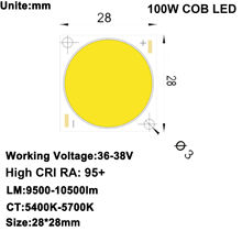 Diy светодиодный u home высокий cri 95 + 100 Вт dc36v 38v cob