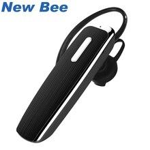 New Bee auricolare Bluetooth senza fili vivavoce originale cuffie auricolari con microfono auricolare per PC telefono