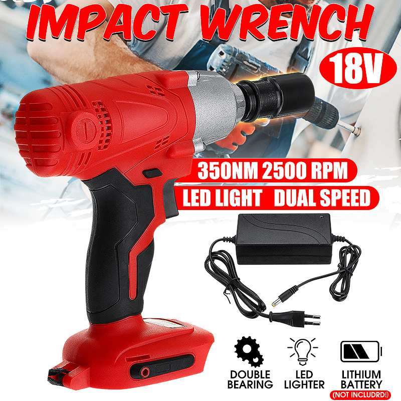 18V Electric Rechargeable Brushless Impact Wrench Cordless 1/2 Socket Wrench Power Tool For Makita Battery With Charger|Electric Wrenches| |  - title=