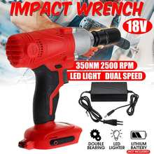 цена на 18V Electric Rechargeable Brushless Impact Wrench Cordless 1/2 Socket Wrench Power Tool For Makita Battery With Charger