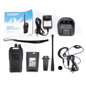Image 5 - Baofeng UV 6 لاسلكي تخاطب طويلة المدى اتجاهين راديو 136 174/400 480MHz VHF UHF ثنائي النطاق راديو محمول باليد جهاز الإرسال والاستقبال البيني