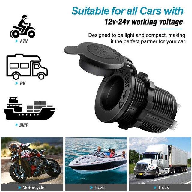 Розетка для автомобильного прикуривателя 12В-24В водонепроницаемый штекер Адаптер питания для морской лодки мотоцикла грузовика RV ATV с проводом D5 6