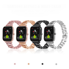 Voor Amazfit Gts Band Rvs Bling Rhinestone Metalen Armband Luxe Vervangende Horloge Band