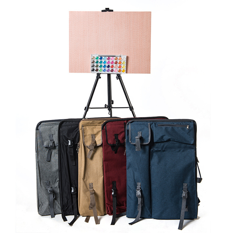 Multifunctional Hobbyist for Students Outdoor Architect Blue Waterproof Drawing Board Canvas Bag 03 Painting Backpack