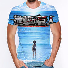 2020 hot sale 3d print attack on titan t shirt summer short