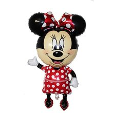 Large size Mickey Minnie Mouse Foil Balloon Happy Birthday Party Decoration Mini Head Medium