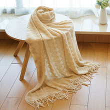Throw Blanket Soft Outdoor Travel Airplane Throw For Sofa Couch Bed Warm Nordic Knitted Trow Rug Plaid Travel TV Blankets цена