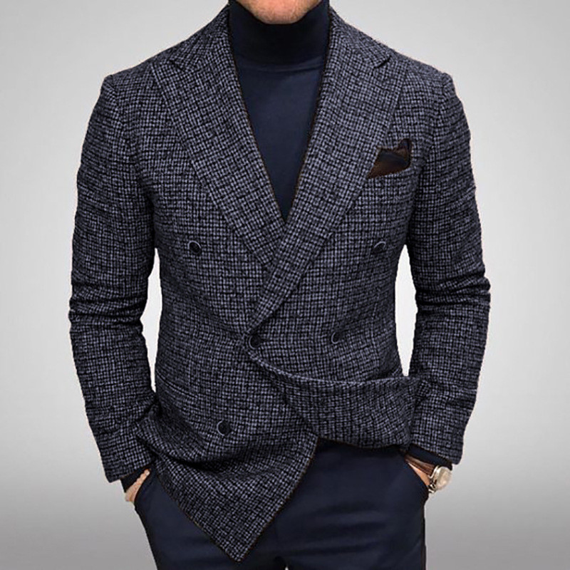 Only  Wedding Tuxedos Groommen  Breasted Mens Double Fit  Mens Suit  Fashion Jacket One Blazer Slim For