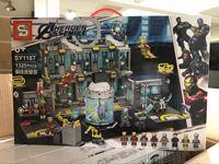 NEW Legoinglys Marvels Super Hero Avengers 4 Iron Man Base Endgame Battle Quinjet Buster Legoinglys Brick Building Blocks Toys