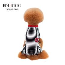 BDTHOOO хлопок собачья одежда в полоску Одежда для домашних животных хлопок Собака Футболка красочные маленькие и средние Лето Весна Мягкие Рубашки