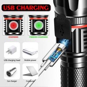 Image 3 - 5000LM ไฟฉาย LED มัลติฟังก์ชั่น L2 T6 แบตเตอรี่ชาร์จ USB ที่มีประสิทธิภาพ COB ไฟฉาย linterna หางแม่เหล็กทำงาน