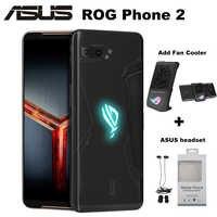 Original ASUS ROG teléfono II ZS660KL teléfono móvil 8GB 128GB Snapdragon855 + OctaCore 6,59 6000 mAh 48MP NFC Android 9,0 ROG teléfono 2