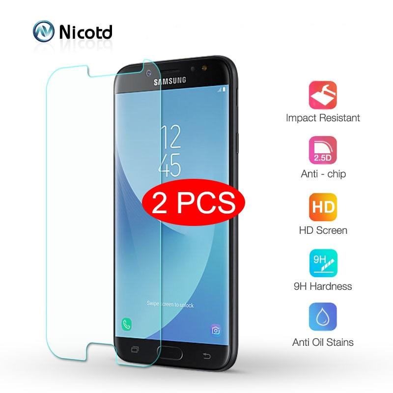 2 шт. закаленное стекло для Samsung Galaxy J7 J8 J6 J5 J4 J3 PRO 2017 2016 Защитная пленка для Galaxy A3 A5 A6 A7 A8 Plus A9 2018