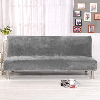 Tamaño Universal de la felpa del sofá cama cubierta sin brazo plegable del asiento de la cubierta del estiramiento