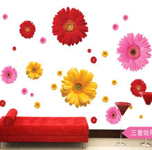 Бесплатная доставка наклейка на стену с маргаритками украшение