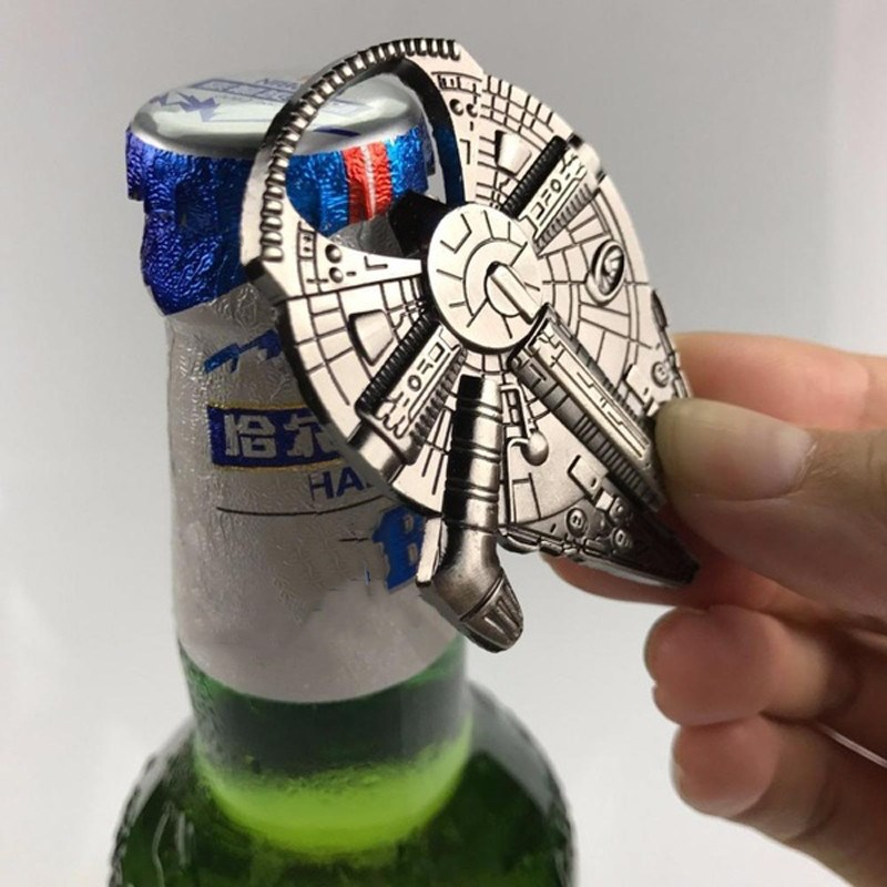 Bottle Opener For Star War Fans Beer Openers Durable Metal Alloy Airship Keychain Toy Gifts