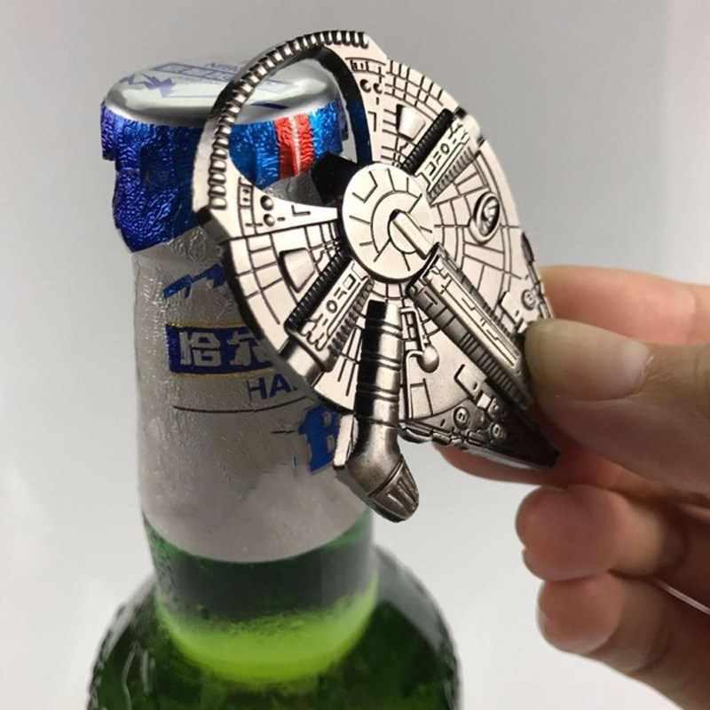Flasche Opener Für Star War Fans Bier Öffner Durable Metall Legierung Luftschiff Keychain Spielzeug Geschenke